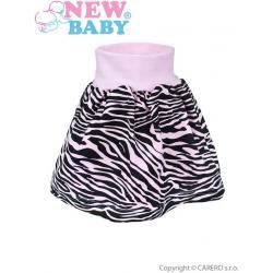 Dětská suknička New Baby Zebra růžová Růžová velikost - 122 (6-7 let)