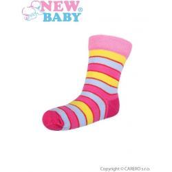 Kojenecké pruhované ponožky New Baby různé barvy Dle obrázku velikost - 86 (12-18 m)