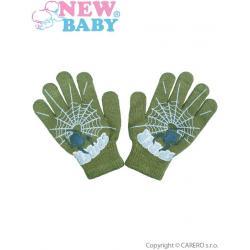 Dětské rukavičky New Baby s pavoukem zelené Zelená velikost - 104 (3-4r)