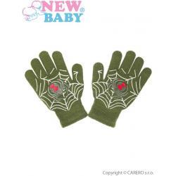 Dětské rukavičky New Baby s pavoukem zelené Zelená velikost - 98 (2-3r)