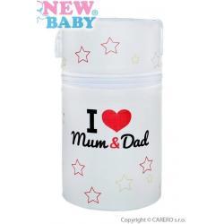 Termoobal Mini New Baby I love Mum and Dad bílý Bílá