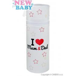 Termoobal Standard New Baby I love Mum and Dad bílý Bílá