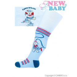 Bavlněné punčocháčky New Baby modré s medvídkem Modrá velikost - 68 (4-6m)
