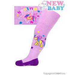 Bavlněné punčocháčky New Baby fialové karino Fialová velikost - 80 (9-12m)