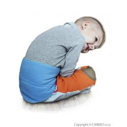 Dětský bederňáček 0-5 let VG modro-limetkový Modrá velikost - 0-5 let