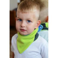 Dětský oboustranný fleecový nákrčník VG modro-limetkový Modrá velikost - univerzální