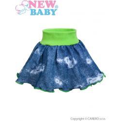 Kojenecká suknička New Baby Light Jeansbaby zelená Zelená velikost - 98 (2-3r)
