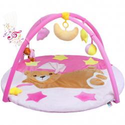 Hrací deka s melodií PlayTo spící medvídek růžová Růžová