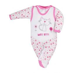 2-dílná kojenecká souprava Bobas Fashion Baby Beti růžová Růžová velikost - 68 (4-6m)