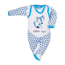 2-dílná kojenecká souprava Bobas Fashion Baby Beti modrá Modrá velikost - 68 (4-6m)