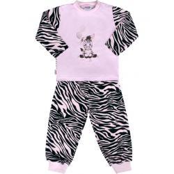 Dětské bavlněné pyžamo New Baby Zebra s balónkem růžové Růžová velikost - 74 (6-9m)