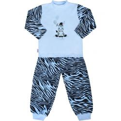 Dětské bavlněné pyžamo New Baby Zebra s balónkem modré Modrá velikost - 80 (9-12m)