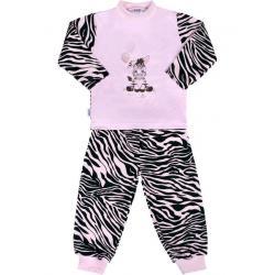 Dětské bavlněné pyžamo New Baby Zebra s balónkem růžové Růžová velikost - 80 (9-12m)
