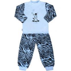 Dětské bavlněné pyžamo New Baby Zebra s balónkem modré Modrá velikost - 86 (12-18 m)