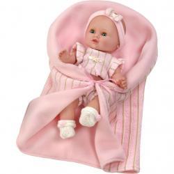 Luxusní dětská panenka-miminko Berbesa Sandra 35cm Růžová