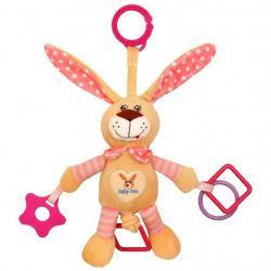 Dětská hračka s vibrací Baby Mix králík růžový Růžová
