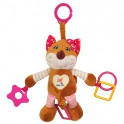 Plyšová hračka s vibrací Baby Mix liška růžová Růžová