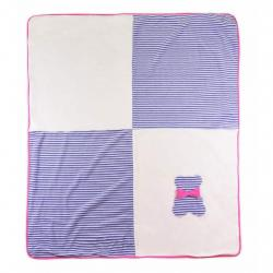Dětská deka Koala Mozaika fialová Fialová