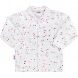 Kojenecký kabátek New Baby Magic Star růžový Růžová velikost - 50