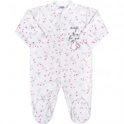 Kojenecký overal New Baby Magic Star růžový Růžová velikost - 56 (0-3m)
