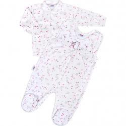 Kojenecká souprava New Baby Magic Star růžová Růžová velikost - 56 (0-3m)