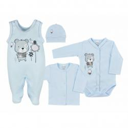 4-dílná kojenecká souprava v Eko krabičce Koala Darling modrá Modrá velikost - 50