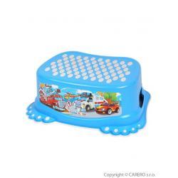 Dětské protiskluzové stupátko do koupelny Autíčka modré Modrá