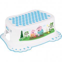 Dětské protiskluzové stupátko do koupelny Peppa Pig white-blue Modrá