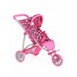 Sportovní kočárek pro panenky PlayTo Olivie růžový Dle obrázku
