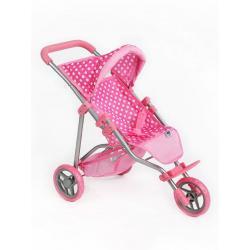 Sportovní kočárek pro panenky PlayTo Olivie světle růžový Světle růžová