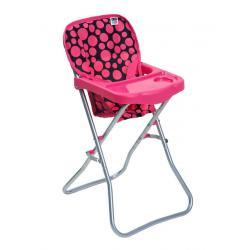 Jídelní židlička pro panenky PlayTo Dorotka růžová Růžová
