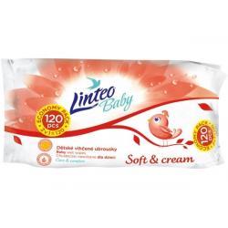 Vlhčené ubrousky Linteo Baby 120 ks Soft and cream Dle obrázku