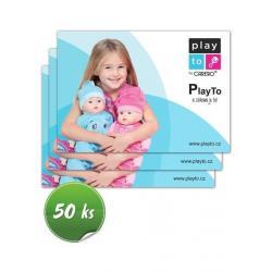 Propagační materiály Play To balení-50 ks Dle obrázku