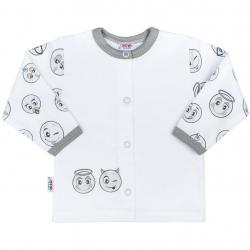 Kojenecký bavlněný kabátek New Baby Emotions Bílá velikost - 80 (9-12m)