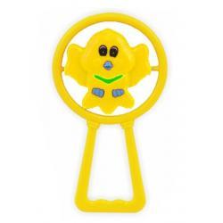 Dětské chrastítko Baby Mix ptáček Žlutá