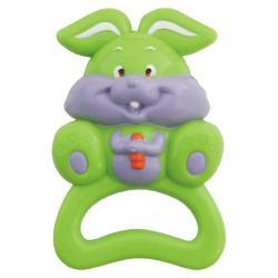 Dětské chrastítko Baby Mix zajíček Zelená