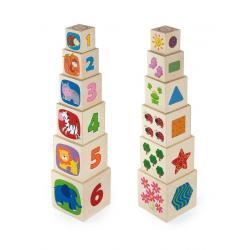 Dřevěná pyramida pro děti Viga Multicolor