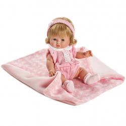 Luxusní dětská panenka-miminko Berbesa Amalia 34cm Růžová