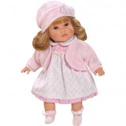 Luxusní mluvící dětská panenka-holčička Berbesa Nina 40cm Růžová