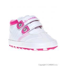 Dětské capáčky Bobo Baby 12-18m bílo-růžové Bílá velikost - 86 (12-18 m)
