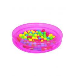 Dětský nafukovací bazén Bestway s míčky růžový Růžová