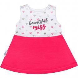 Kojenecké šaty bez rukávů New Baby růžové Růžová velikost - 62 (3-6m)