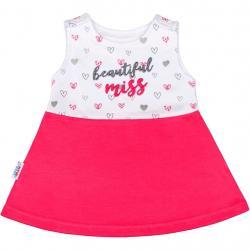 Kojenecké šaty bez rukávů New Baby růžové Růžová velikost - 74 (6-9m)