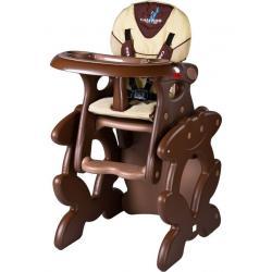 Židlička CARETERO Primus brown Hnědá