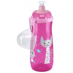 Dětská láhev NUK Sports Cup králiček a kočička 450 ml růžová Růžová