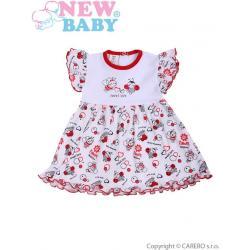 Kojenecké šaty New Baby Beruška Bílá velikost - 74 (6-9m)