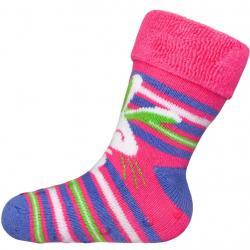 Kojenecké froté ponožky New Baby s ABS růžové králík Růžová velikost - 80 (9-12m)