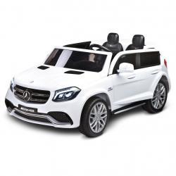 Elektrické autíčko Toyz MERCEDES GLS63 - 2 motory white Bílá
