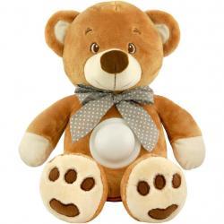 Plyšový medvídek s projektorem Baby Mix hnědý Hnědá
