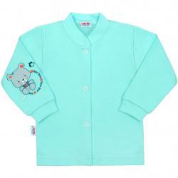 Kojenecký kabátek New Baby teddy tyrkysový Tyrkysová velikost - 56 (0-3m)
